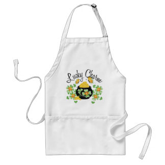 Lucky Charm Pot of Gold Adult Apron