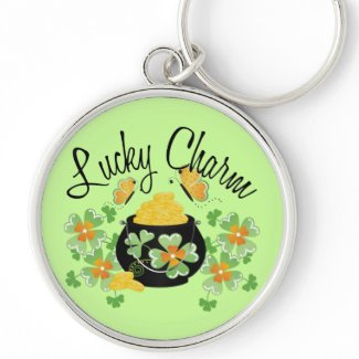 s day inspired lucky charm keychains st s day