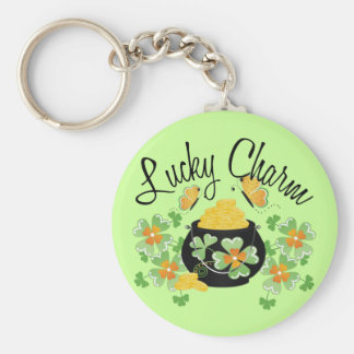 Lucky Charm Pot of Gold Keychain