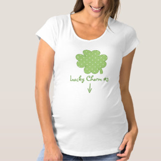 Lucky Charm Pregnancy Reveal Maternity T-Shirt