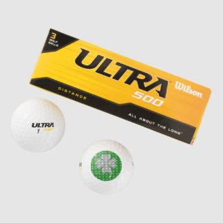 Lucky Charm Shamrock Golf Ball Designs by Janz