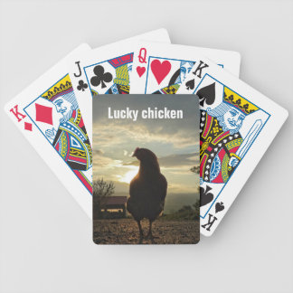 Lucky chicken 01.2 bicycle playing cards
