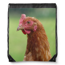 Lucky chicken drawstring bag