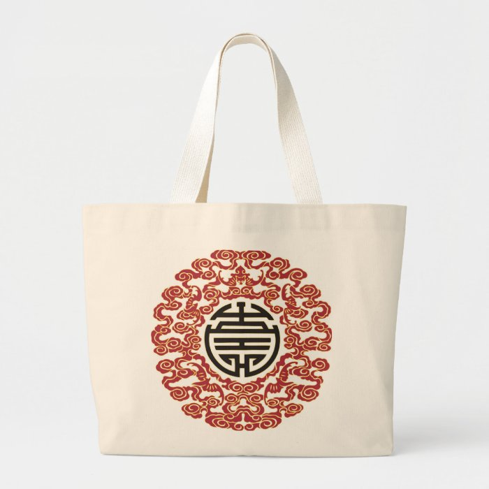 Lucky Chinese Charm Large Tote Bag