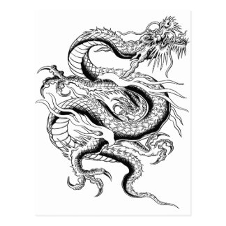 Lucky Chinese Dragon Postcard