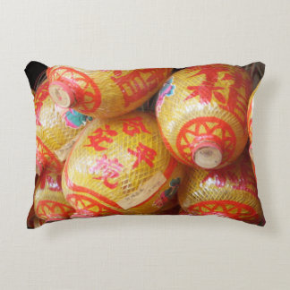 Lucky Chinese Paper Lanterns Accent Pillow