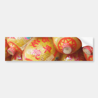 Lucky Chinese Paper Lanterns Bumper Sticker