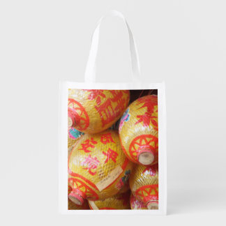 Lucky Chinese Paper Lanterns Grocery Bag
