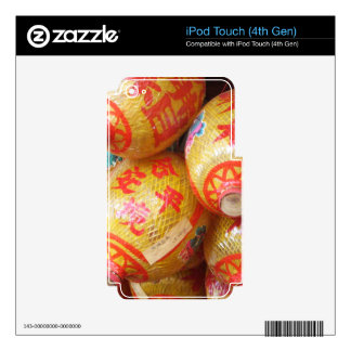 Lucky Chinese Paper Lanterns iPod Touch 4G Decals