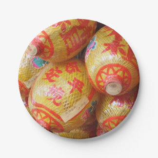 Lucky Chinese Paper Lanterns Paper Plate