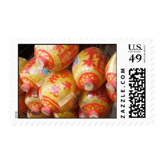 Lucky Chinese Paper Lanterns Postage
