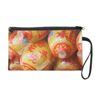 Lucky Chinese Paper Lanterns Wristlet