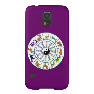 Lucky Chinese Zodiac Wheel, Chinese Astrology Galaxy S5 Cases