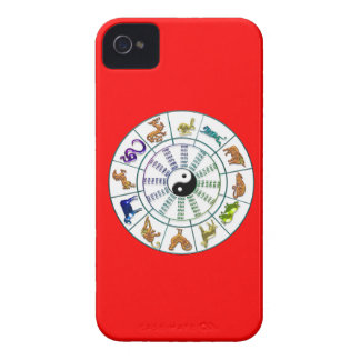 Lucky Chinese Zodiac Wheel, Chinese Astrology iPhone 4 Covers