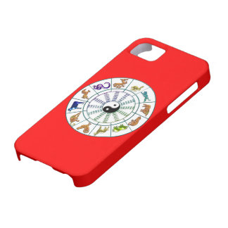 Lucky Chinese Zodiac Wheel, Chinese Astrology iPhone 5 Covers