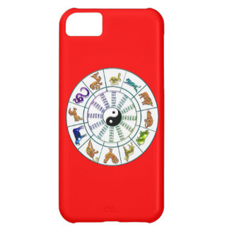 Lucky Chinese Zodiac Wheel, Chinese Astrology iPhone 5C Cases