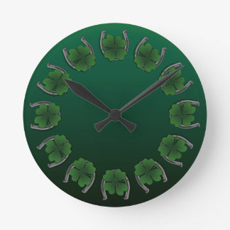 Lucky Clock St. Patrick's Lucky Charm Wall Clock