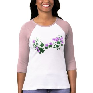 Lucky Clover 3/4 Sleeve Raglan shirt