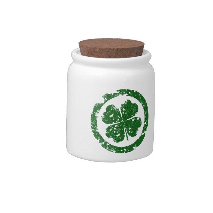 Lucky Clover Candy Jar