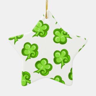 Lucky clover ceramic ornament