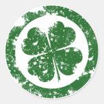 Lucky Clover Classic Round Sticker