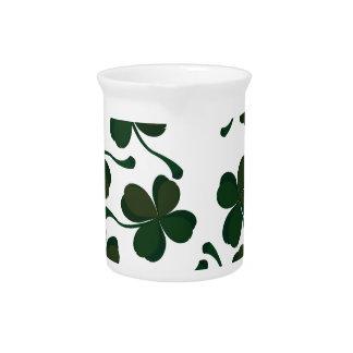 lucky clover drink pitcher
