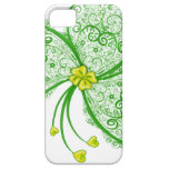Lucky clover filigree iPhone 5 cases