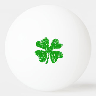 Lucky clover flag ping pong balls for table tennis Ping-Pong ball