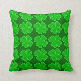 Lucky Clover Four Leaf Shamrock Pillow