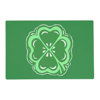 Lucky Clover Green Placemat