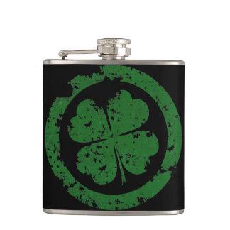 Lucky Clover Hip Flask