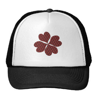 Lucky Clover in Plaid Trucker Hat