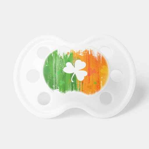 Lucky Clover & Ink Background Baby Pacifiers