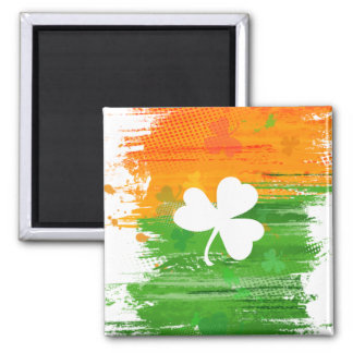 Lucky Clover & Ink Background Magnet