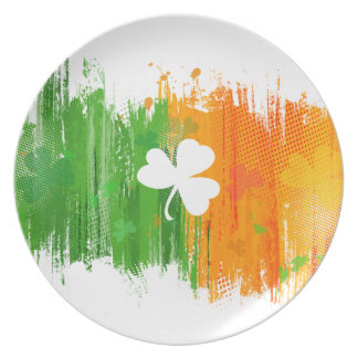 Lucky Clover & Ink Background Plates