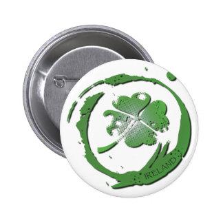 Lucky Clover Ireland Pinback Button