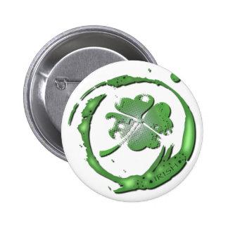 Lucky Clover Irish Button