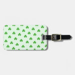 Lucky clover pattern tags for bags