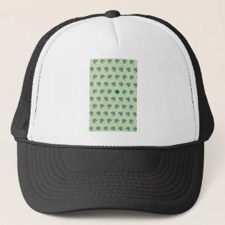 Lucky Clover Pattern Trucker Hat
