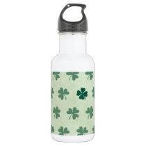 Lucky Clover Pattern Water Bottle
