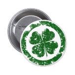 Lucky Clover Pinback Button