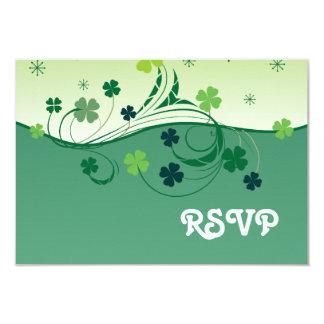 """Lucky Clover RSVP card 3.5"""" X 5"""" Invitation Card"""