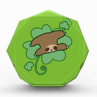 Lucky Clover Sloth Acrylic Award