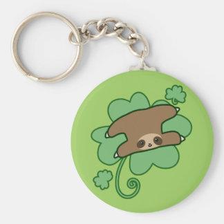 Lucky Clover Sloth Keychain