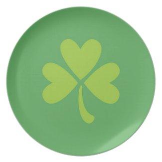 Lucky Clover St. Patrick's Day Shamrock Plate