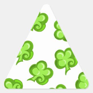 Lucky clover triangle sticker