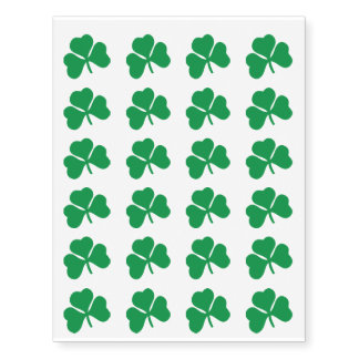 Lucky Clover Temporary Tattoos