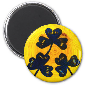 Lucky Clovers 2 Inch Round Magnet