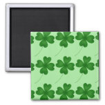 Lucky Clovers 2 Inch Square Magnet