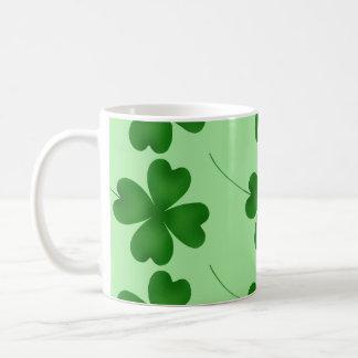 Lucky Clovers Classic White Coffee Mug